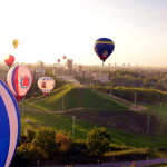 Ballooning over the city of Minsk